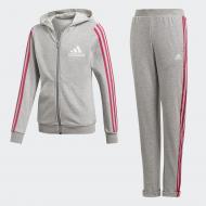 Костюм Adidas YG HOOD COT TS DV0839 р. 170 серый