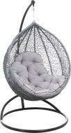 Кресло-кокон Indigo серый с подушкой