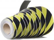 Стрічка захисна 1500х10x0,3 см жовто-чорна