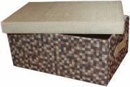 Скриня текстильний Natural House FBC02-L із кришкою 180x300x420 мм