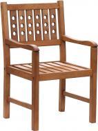 Кресло деревянное с декоративной спинкой 57,5х92,5 см бук
