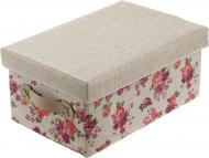 Скриня текстильний Natural House FB14-M із кришкою Квіти 160x250x360 мм