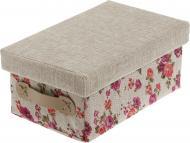 Скриня текстильний Natural House FB14-S із кришкою Квіти 140x200x310 мм