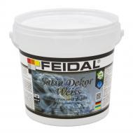 Декоративна фарба Feidal Satin Dekor Weiss білий 1кг