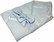 Конверт для новонароджених Руно р. 75х75 блакитний із білим Д957
