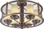 Люстра стельова Altalusse INL-3096C-06 6x40 Вт E27 металік/горіх