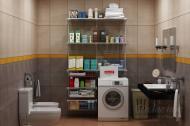 Гардеробная система Larvij комплект №5 Ванная комната белый