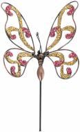 Декор для рослин Метелик ажур на металевому стержні