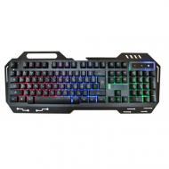 USB проводная компьютерная клавиатура Good Idea GK-900 KW 900 с подсветкой Черный с синим (hub_JWsZ8
