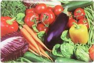 Дошка кухонна Овочі 20x30x0,4 см
