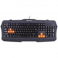 Игровая клавиатура REAL-EL Gaming 8400 полноразмерная для настольного ПК бесшумная проводная Black (