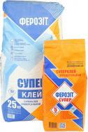 Клей для плитки Ферозіт Ферозіт супер 25 кг + 5 кг у дарунок 30кг