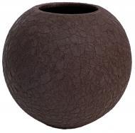 Ваза Шар шовк шоколад 16 см