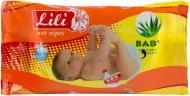 Дитячі вологі серветки Lili Baby з екстрактом алое вера 40 шт.