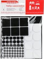 Самоклейки для ножек войлок набор черная и белая 137 шт