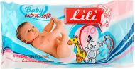 Дитячі вологі серветки Lili з екстрактом календули і вітаміном Е 40 шт.