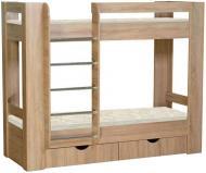 Ліжко двох'ярусне Пєхотін Дует–3 70х190 см дуб сонома