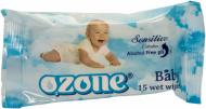 Вологі серветки Ozone  Baby з екстрактом календули і вітаміном Е 15 шт.