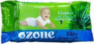 Дитячі вологі серветки Ozone Baby з екстрактом Алое вера 60 шт.