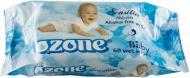 Дитячі вологі серветки Ozone Baby з екстрактом календули і вітаміном Е 60 шт.