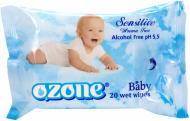 Дитячі вологі серветки Ozone Baby з екстрактом календули і вітаміном Е 20 шт.