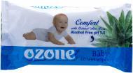 Дитячі вологі серветки Ozone з екстрактом алое 40 шт.