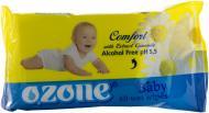 Дитячі вологі серветки Ozone Baby з екстрактом ромашки 40 шт.