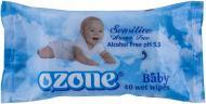 Дитячі вологі серветки Ozone Baby з екстрактом календули і вітаміном Е 40 шт.