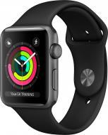 Смарт-часы Apple Watch Series 3 GPS 38 мм space grey Aluminium Case with Black Sport Band (MTF02FS/A)