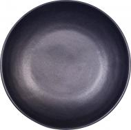 Тарілка з високим бортиком 22 см Блек Мат Manna Ceramics