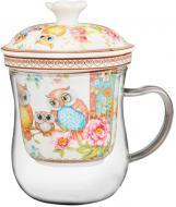Чашка с заварником совы, 400 мл. Lefard