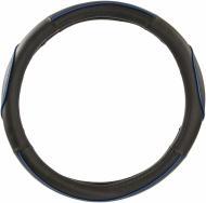 Чохол на кермо  King Company KSW-2782-1-BK M чорний з синім
