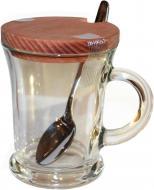 Чашка-заварник с ложкой и деревянной крышкой 50823К2 Everglass
