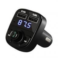 FM модулятор FM MP3 MOD X8 Черный (4522)