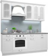 Кухня модульна Прованс білий гладкий МДФ 2м