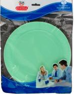 Тарілки одноразові Eventa паперові однотонні в асортименті 23 см. 10 шт.