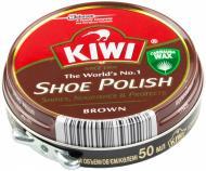 Крем для взуття Kiwi Shoe Polish 50 мл коричневий