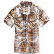 Рубашка Brandit Roadstar XXL Темно-серый с желтым (4012.60)