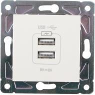 Механізм розетки USB кінцева подвійна HausMark Alta без шторок без кришки крем SNG-SCP.SQ20MG2U-CR