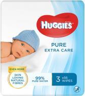 Дитячі вологі серветки Huggies Pure Gold Triplo 168 шт.