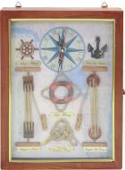 Ключниця з годинником Морські вузли 3325C