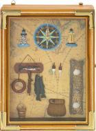 Ключниця з годинником Рибальська 3325B