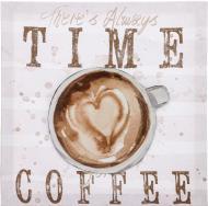 Картина 3D Time Coffee 28х28х2,2 см 28x28 см