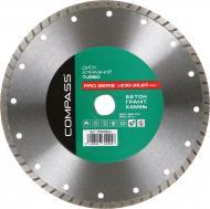 Диск алмазний відрізний Compass Turbo Pro Serie 230x22,2 граніт , камінь , бетон