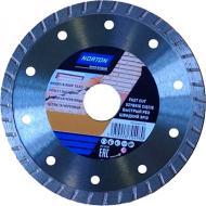 Диск алмазний відрізний Norton BRICKS & TILES турбо 125x2,2x22,2 бетон 70184601279