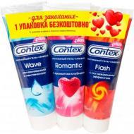 Інтимна гель-змазка Contex Wave + Romantic + Flash 30 мл