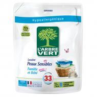 Гель для машинного та ручного прання L'Arbre Vert Чутлива шкіра (змінний блок) 1,5 л