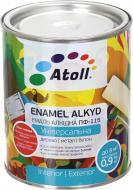 Емаль Atoll алкідна ПФ-115 білий глянець 0,8кг
