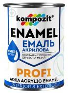 Эмаль Kompozit акриловая Profi красный глянец 0,8л