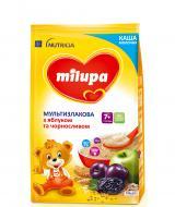 Каша молочна Milupa від 7 місяців мультизлакова з яблуком і чорносливом швидкорозчинна 210 г